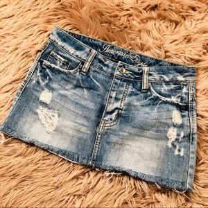 American Eagle button fly denim mini skirt